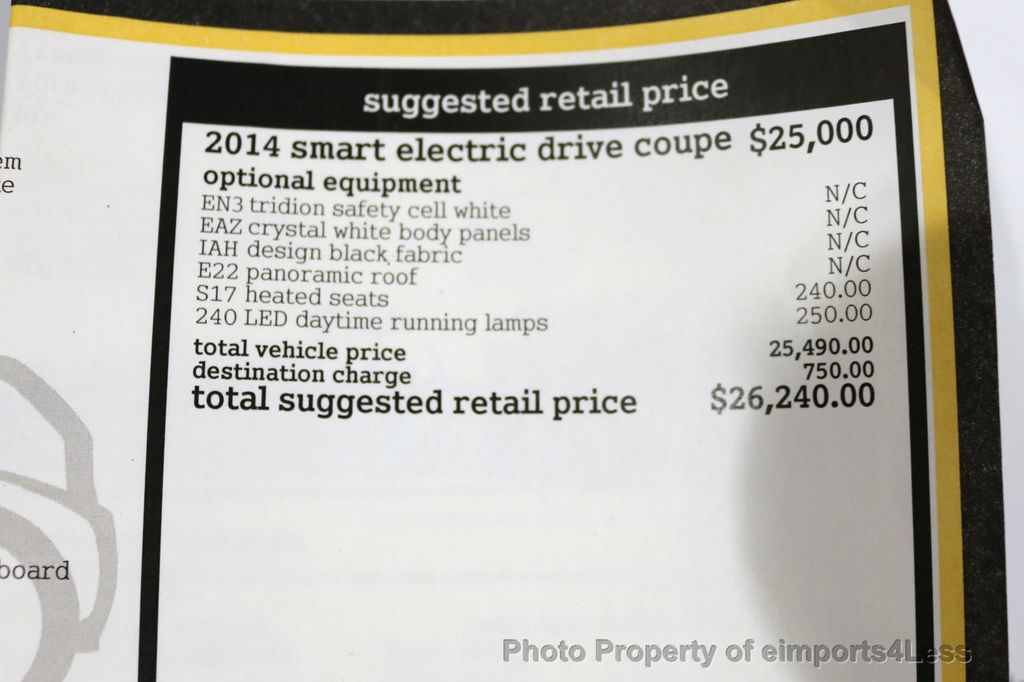 2014 smart fortwo electric drive CERTIFIED ForTWO ED Electric Drive  - 17270734 - 7