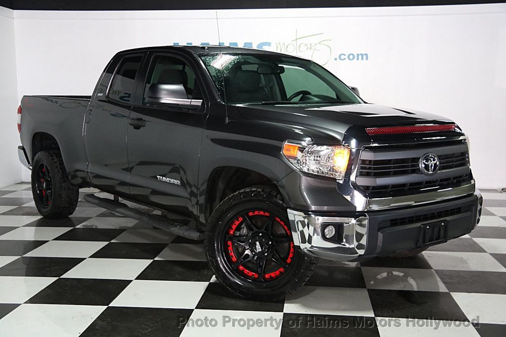 2014 used toyota tundra double cab 4 6l v8 6 spd at sr5 gs at haims motors ft lauderdale. Black Bedroom Furniture Sets. Home Design Ideas