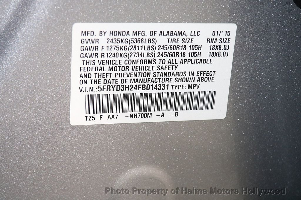 2015 Acura MDX FWD 4dr - 17334336 - 35