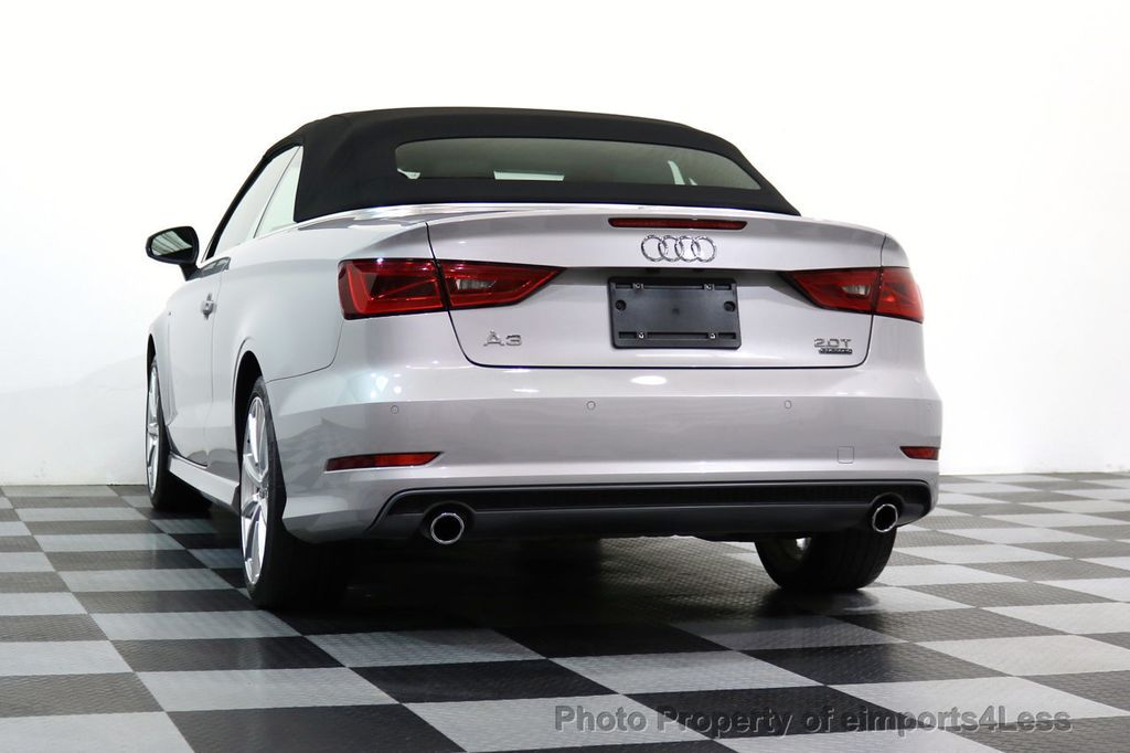 2015 Audi A3 Cabriolet CERTIFIED A3 2.0T Quattro PRESTIGE AWD CABRIOLET - 17160380 - 28