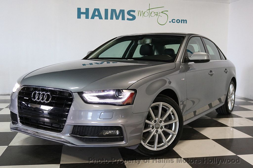2015 used audi a4 4dr sedan automatic quattro 2 0t premium plus at haims motors ft lauderdale. Black Bedroom Furniture Sets. Home Design Ideas