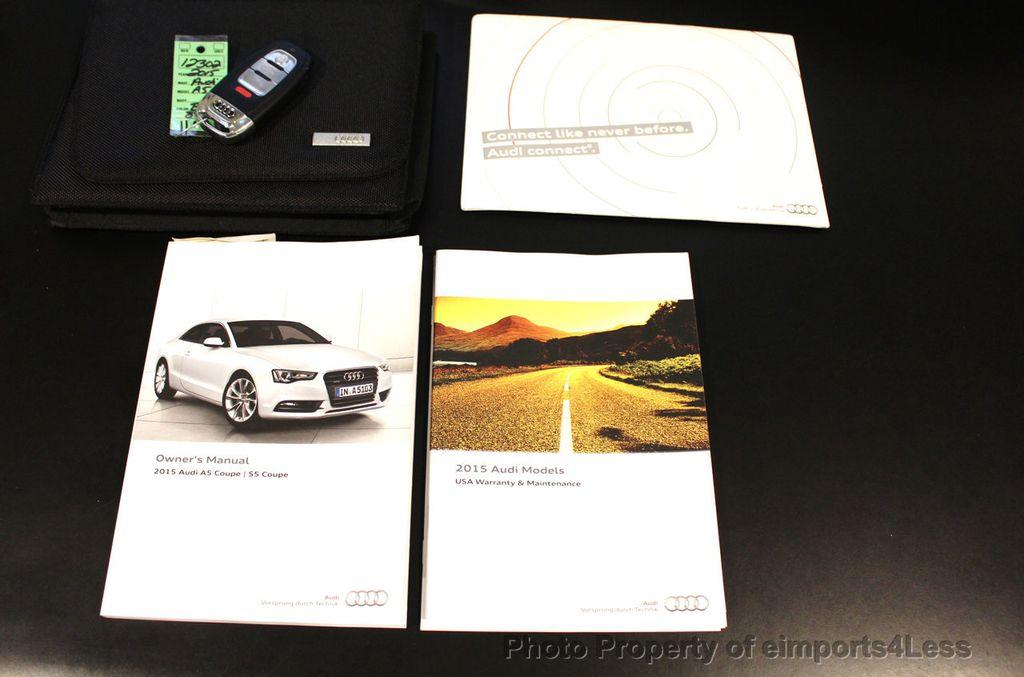 2015 Audi A5 CERTIFIED A5 2.0t Quattro Premium Plus S-Line AWD CAMERA NAVI - 18051525 - 40