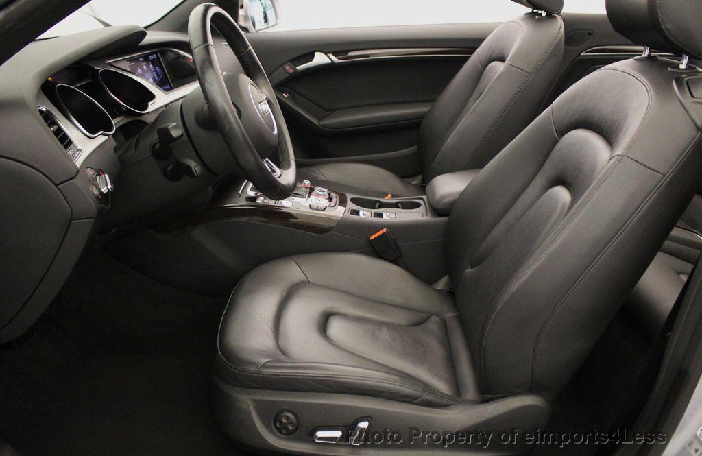 2015 Audi A5 Cabriolet CERTIFIED A5 Cabriolet 2.0T Quattro AWD S-Line CAMERA NAV - 18191706 - 47