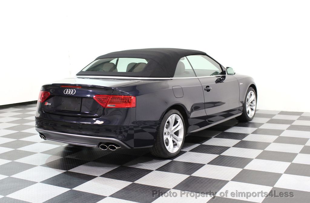 2015 Audi S5 Cabriolet CERTIFIED S5 3.0t Quattro AWD COMFORT TECH CAM NAVI - 17517063 - 17
