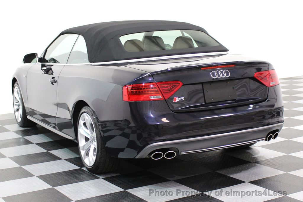 2015 Audi S5 Cabriolet CERTIFIED S5 3.0t Quattro AWD COMFORT TECH CAM NAVI - 17517063 - 28
