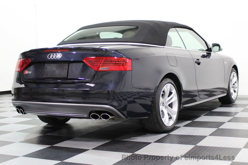 2015 Audi S5 Cabriolet CERTIFIED S5 3.0t Quattro AWD COMFORT TECH CAM NAVI - 17517063 - 30