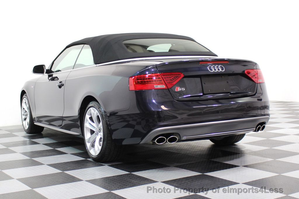2015 Audi S5 Cabriolet CERTIFIED S5 3.0t Quattro AWD COMFORT TECH CAM NAVI - 17517063 - 41