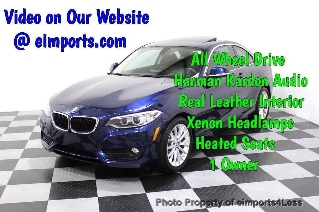 2015 BMW 2 Series CERTIFIED 228i xDRIVE AWD HK XENONS PREMIUM - 18147503 - 0