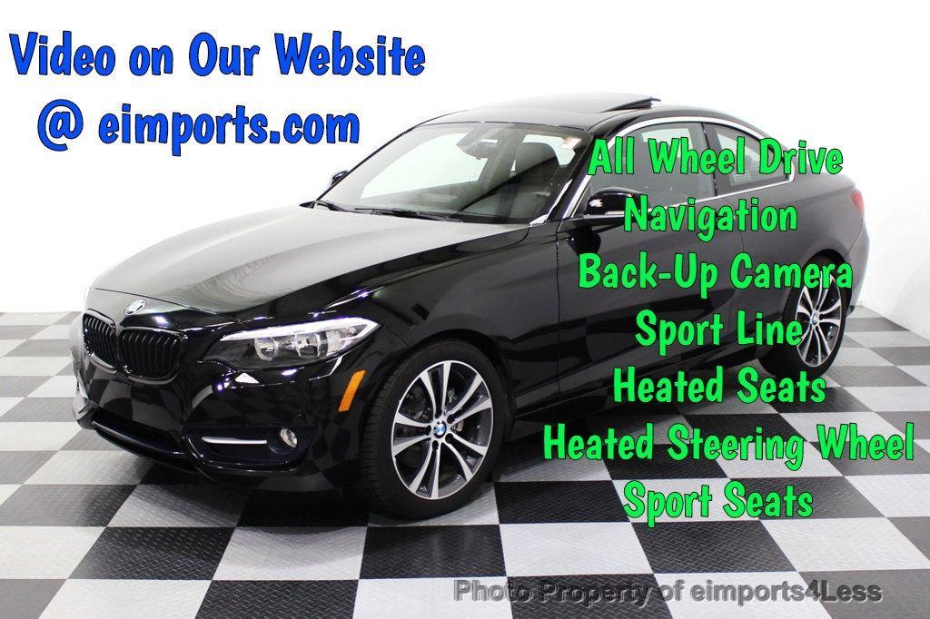 2015 BMW 2 Series CERTIFIED 228i xDRIVE AWD Sport Line TECH NAVIGATION - 18196736 - 0