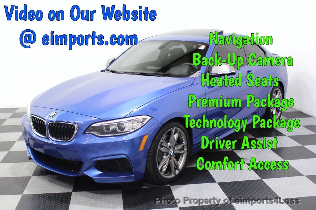 2015 BMW 2 Series CERTIFIED M235i PREMIUM XENON COLD TECH DRIVER ASSIST NAV - 18319521 - 0