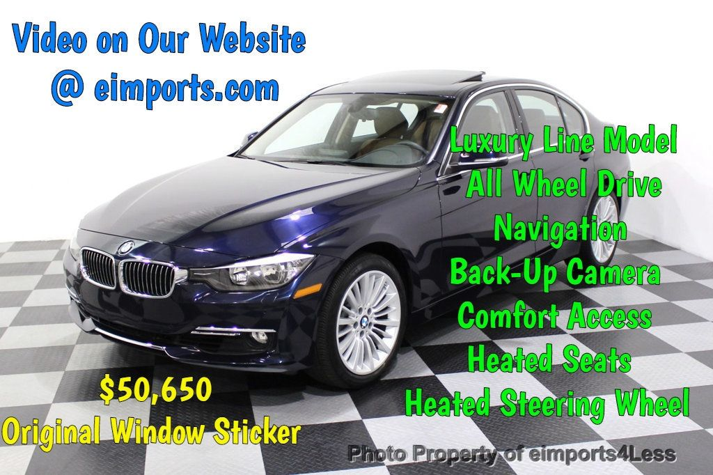2015 BMW 3 Series CERTIFIED 328i xDRIVE Luxury Line AWD CAMERA NAVI - 18196760 - 0