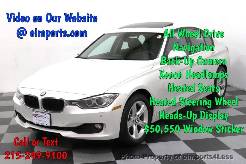 2015 BMW 3 Series CERTIFIED 328i xDrive TECH HUD AWD CAMERA NAVI - 18518148 - 0