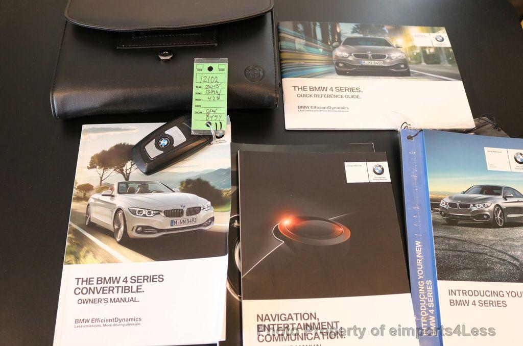 2015 BMW 4 Series CERTIFIED 428i xDRIVE AWD CAMERA NAVIGATION - 17570261 - 36