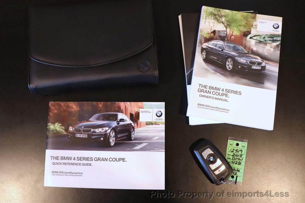 2015 BMW 4 Series CERTIFIED 428i xDrive GRAN COUPE AWD CAMERA NAVI - 18499016 - 44