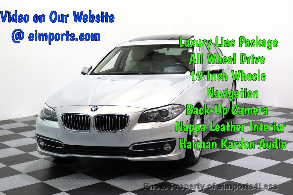 2015 BMW 5 Series CERTIFIED 535i xDRIVE Luxury Line AWD CAMERA HK NAVI - 17614196 - 0