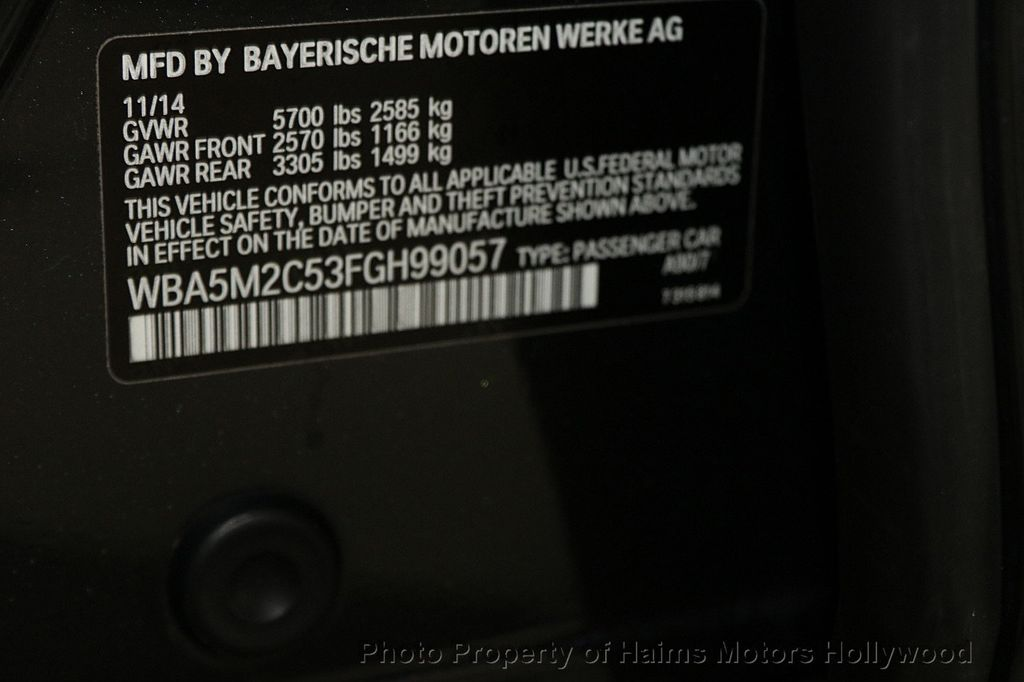 2015 BMW 5 Series Gran Turismo 535i Gran Turismo - 17160364 - 37