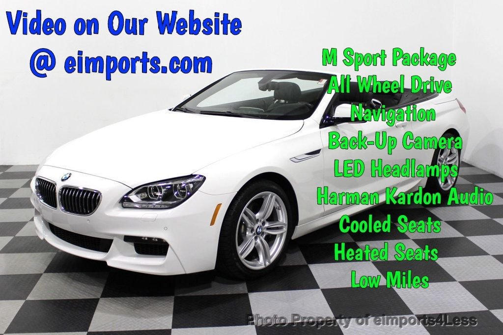 2015 BMW 6 Series CERTIFIED 640i xDrive AWD M SPORT COLD HUD NAV CAM HK LED - 18346383 - 0