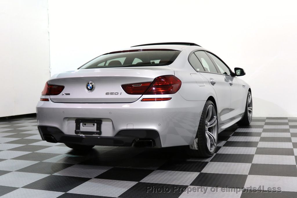 2015 BMW 6 Series CERTIFIED 650i xDRIVE Gran Coupe 4Dr AWD M SPORT EXEC  - 17110250 - 52