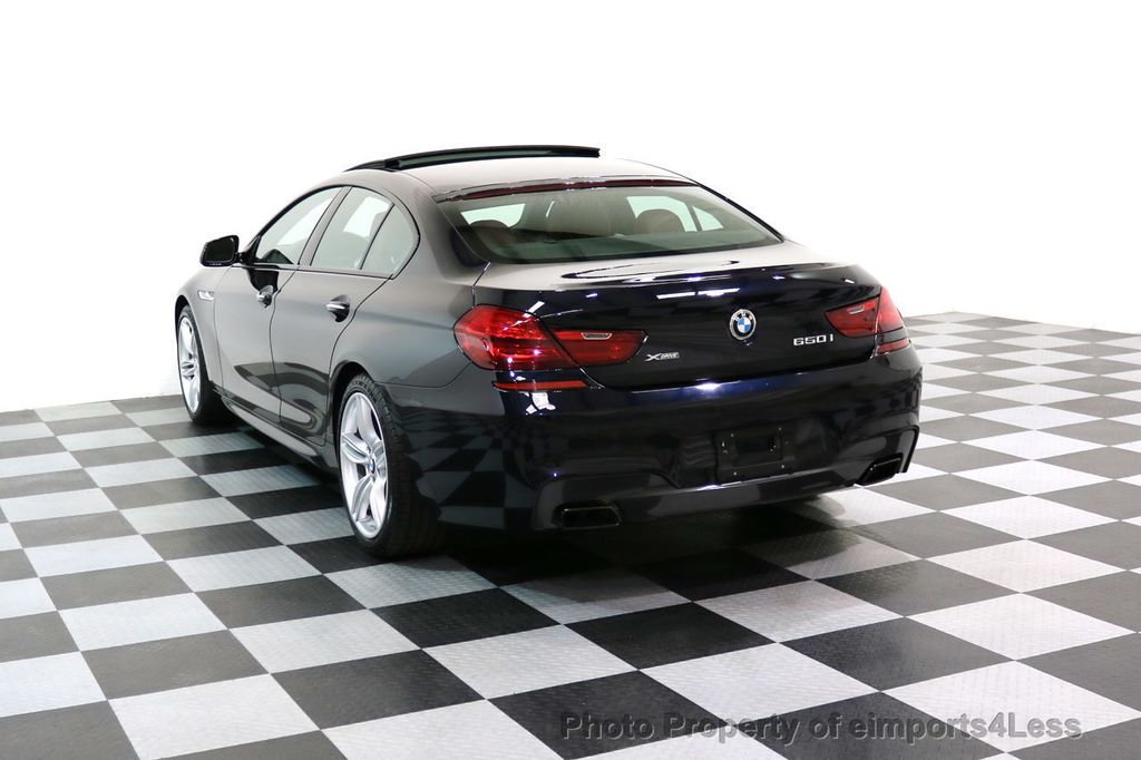 2015 BMW 6 Series CERTIFIED 650i xDRIVE M Sport AWD Gran Coupe  - 17425273 - 50