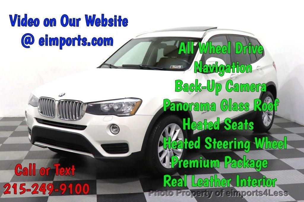 2015 BMW X3 CERTIFIED X3 xDRIVE28i AWD CAMERA NAVIGATION - 17425244 - 0