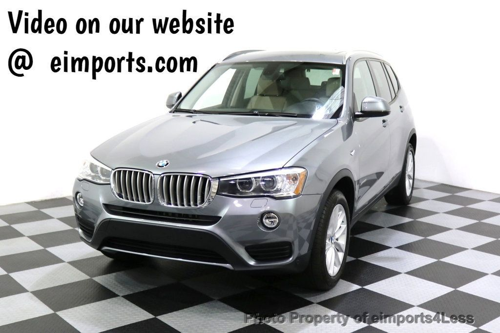 2015 BMW X3 CERTIFIED X3 xDRIVE28i AWD XENONS CAMERA NAVI - 17696949 - 0