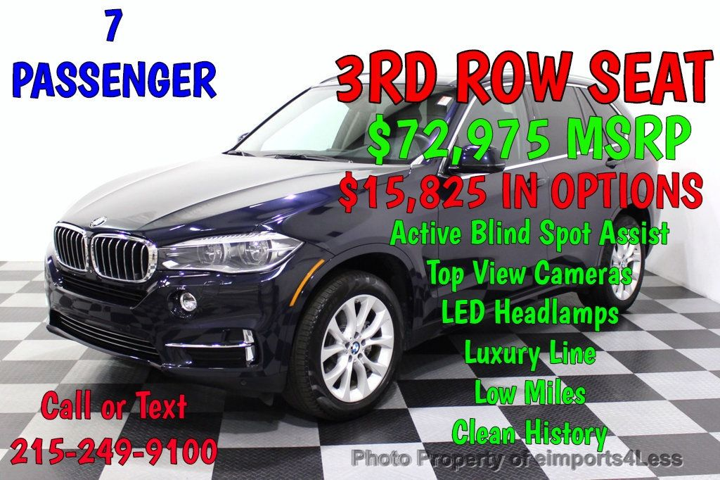 2015 BMW X5 CERTIFIED X5 xDRIVE35i AWD 7-Passenger BLIND SPOT CAMERA NAVI - 18196765 - 0