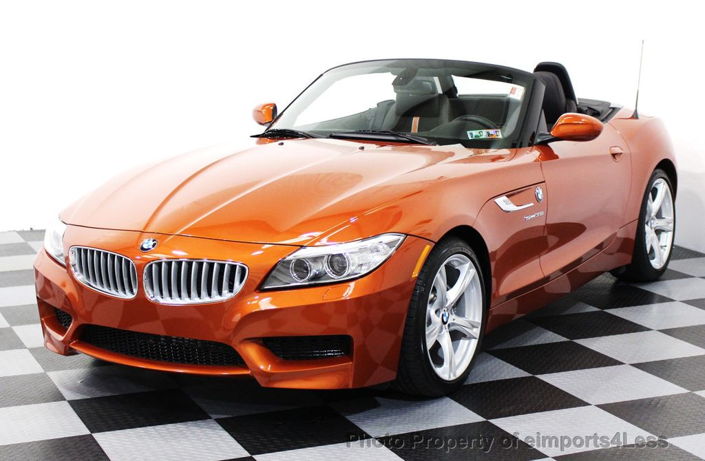 2015 used bmw z4 certified z4 sdrive35i roadster hyper orange m sport navi at eimports4less. Black Bedroom Furniture Sets. Home Design Ideas
