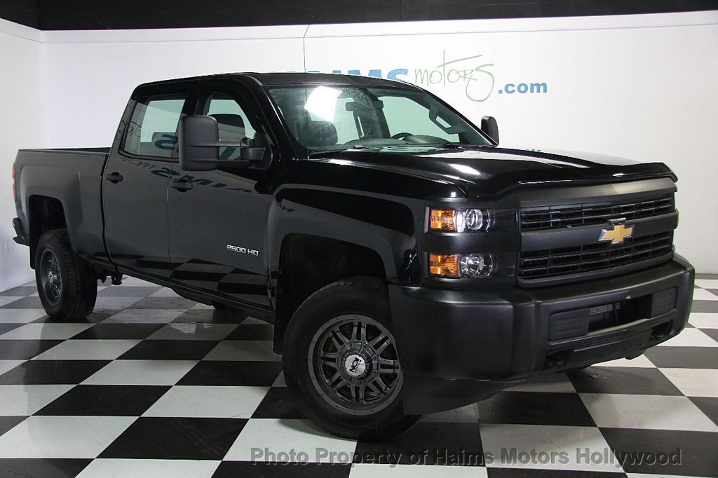 2015 used chevrolet silverado 2500hd 4wd crew cab 153 7 work truck at h. Cars Review. Best American Auto & Cars Review