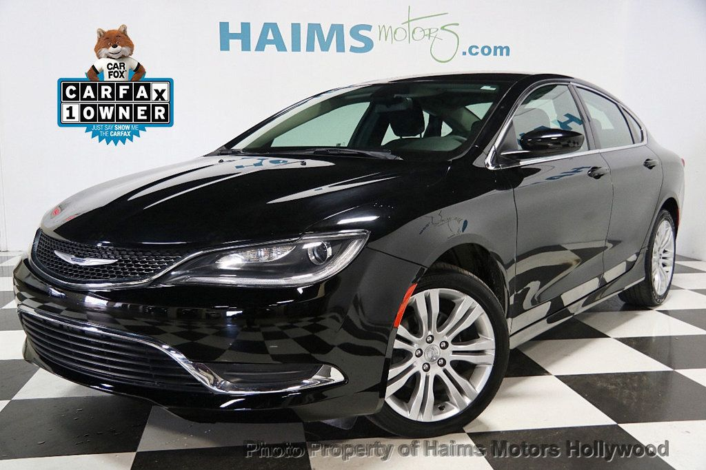 2015 used chrysler 200 4dr sedan limited fwd at haims motors hollywood serving fort lauderdale. Black Bedroom Furniture Sets. Home Design Ideas