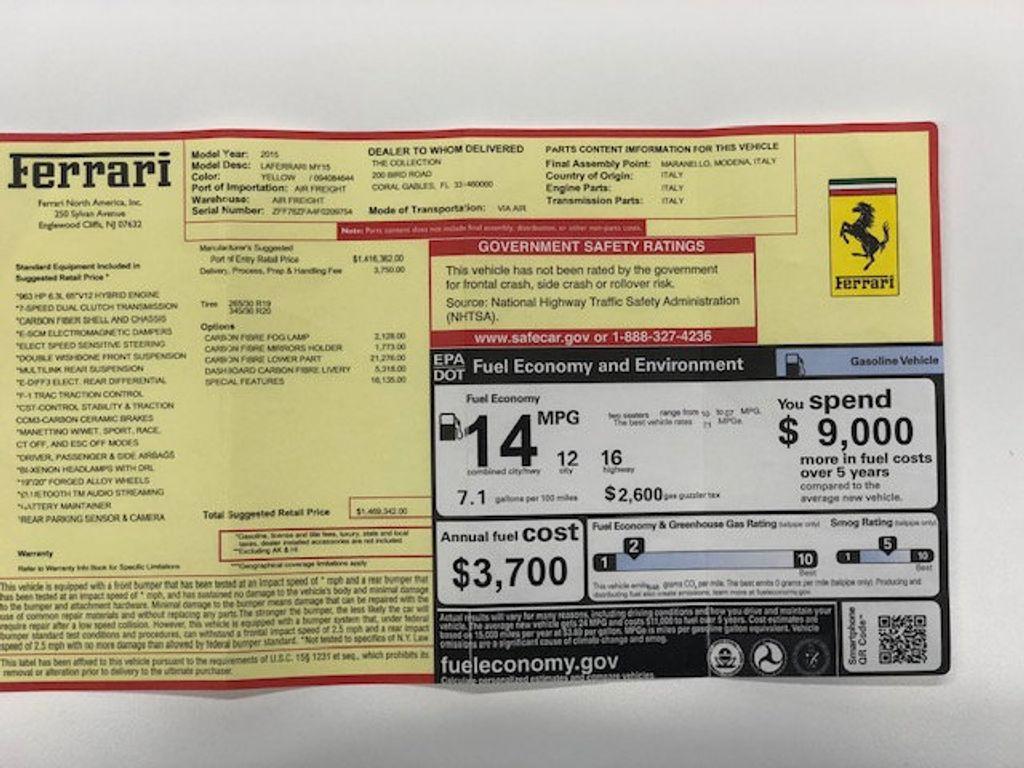 2015 Ferrari LaFerrari 2dr Coupe - 18365687 - 62