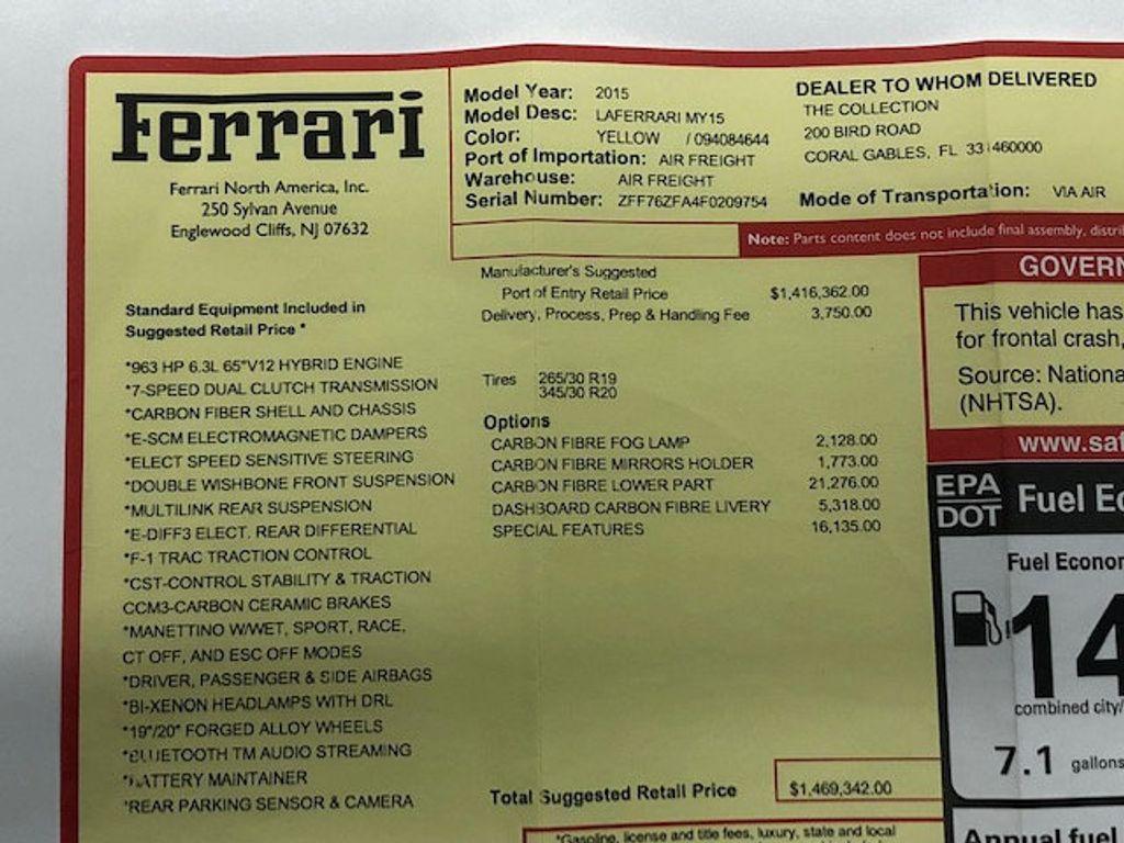 2015 Ferrari LaFerrari 2dr Coupe - 18365687 - 64