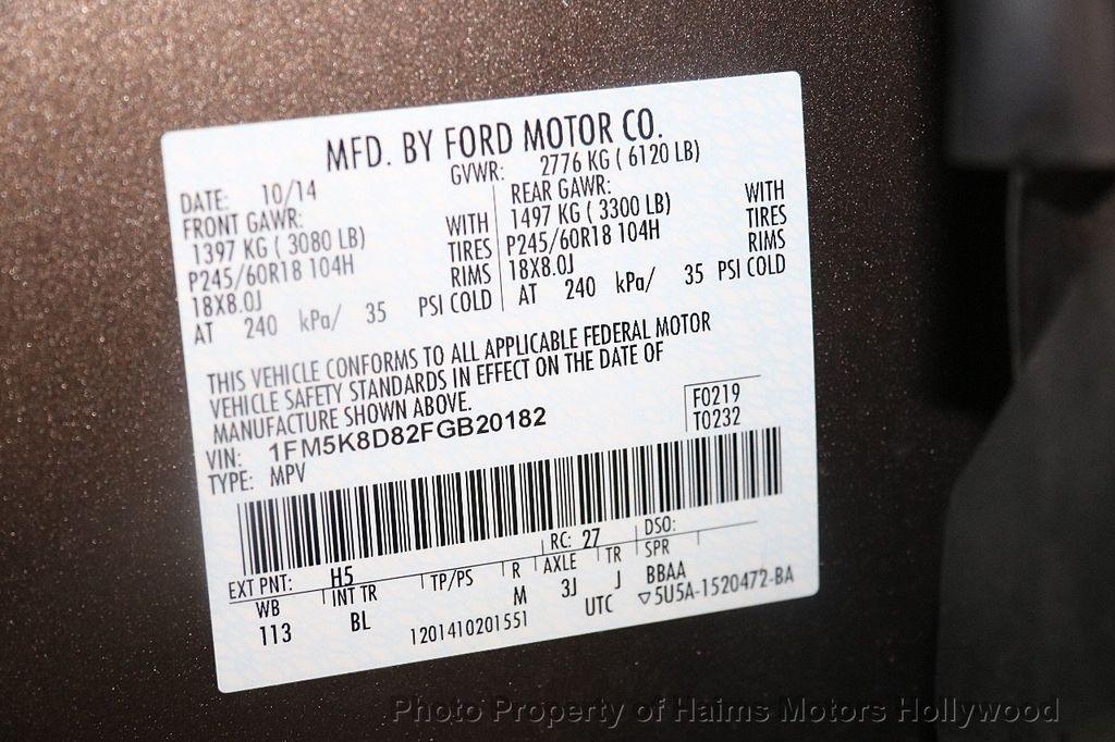 2015 Ford Explorer 4WD 4dr XLT - 17382062 - 33