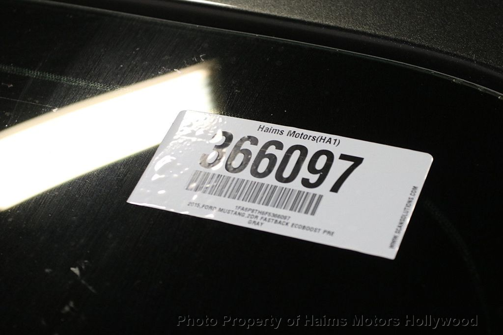 2015 Ford Mustang 2dr Fastback EcoBoost - 17995963 - 27
