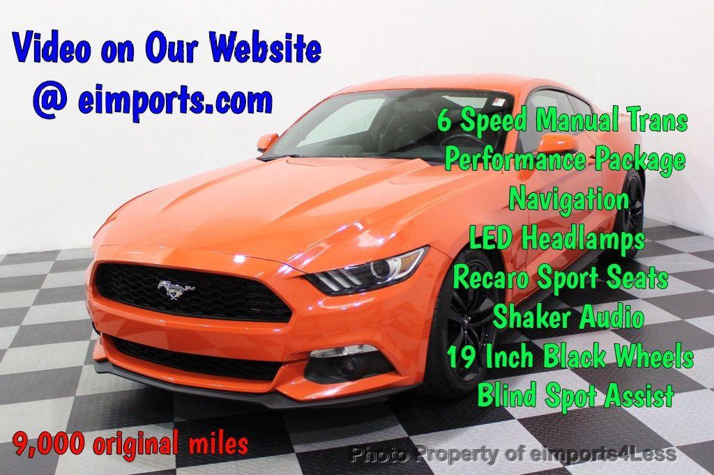 2015 Ford Mustang CERTIFIED MUSTANG PREMIUM 6 SPEED Performace Package CAM NAV - 18319515 - 0