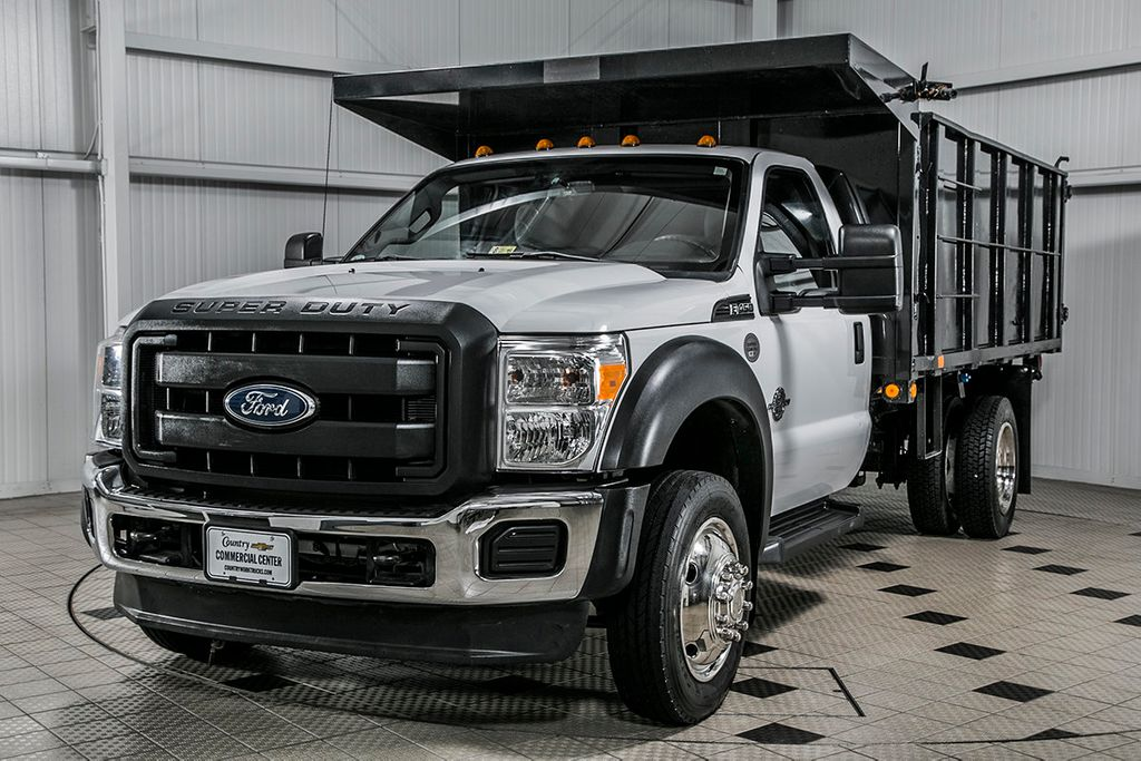 2015 Ford Super Duty F-450 DRW Cab-Chassis F450 REG CAB * 6.7 POWERSTROKE * 12' LANDSCAPE DUMP - 16591978 - 3