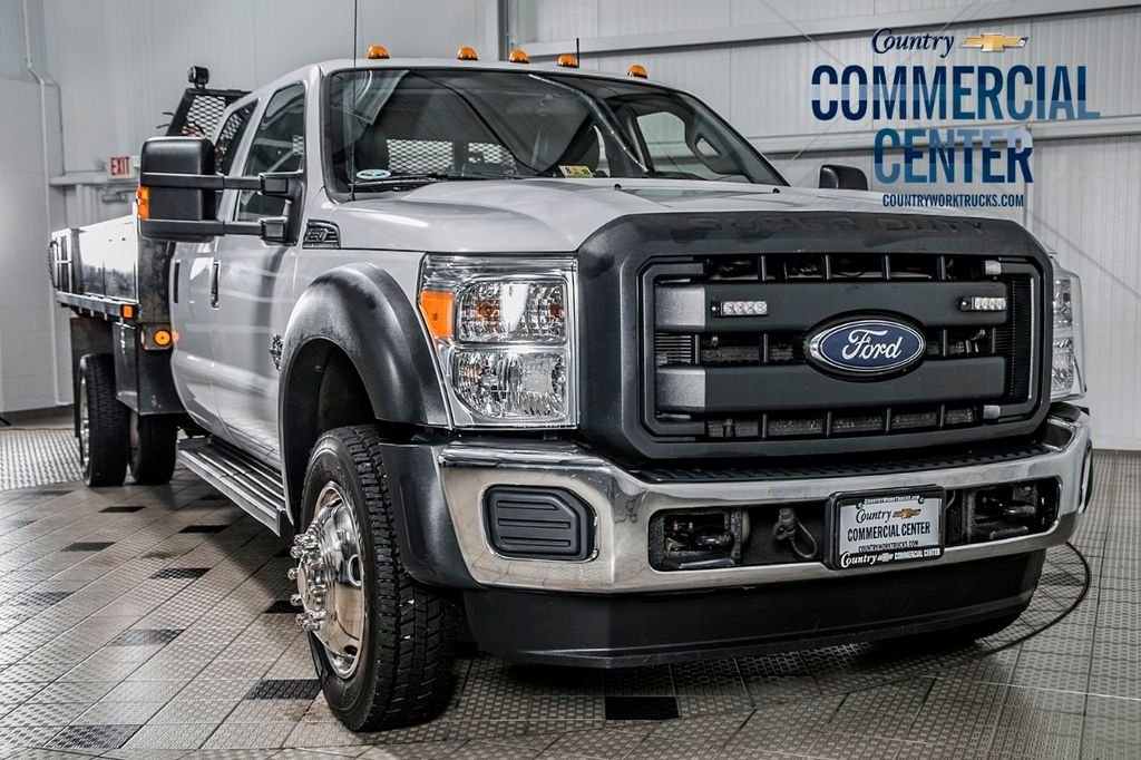 2015 Ford Super Duty F-550 DRW F550 CREW 4X4 * 6.7 POWERSTROKE * FLATBED W/TOOLBOXES & AUX FUEL - 16715627 - 0