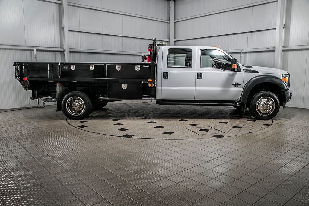 2015 Ford Super Duty F-550 DRW F550 CREW 4X4 * 6.7 POWERSTROKE * FLATBED W/TOOLBOXES & AUX FUEL - 16715627 - 1