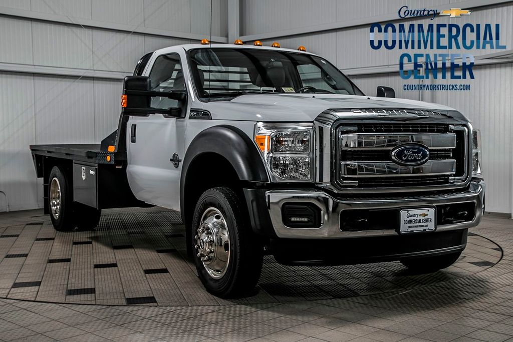 2015 Ford Super Duty F-550 DRW F550 REG CAB 4X4 * 6.7 POWERSTROKE * 11' C&M FLATBED * 1 OWNER - 17136112 - 0