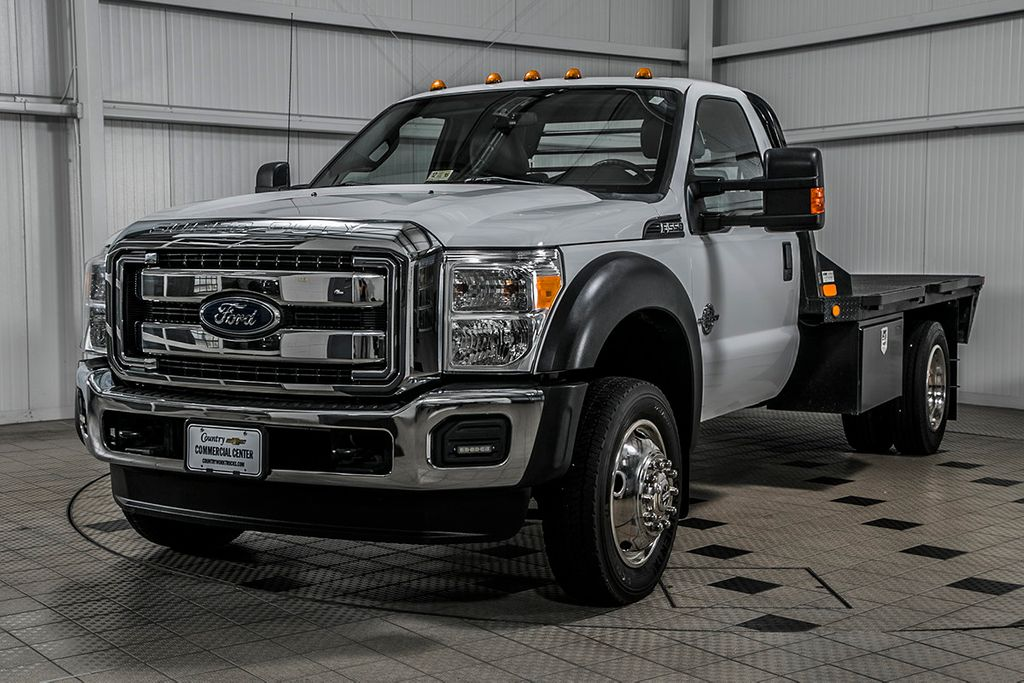 2015 Ford Super Duty F-550 DRW F550 REG CAB 4X4 * 6.7 POWERSTROKE * 11' C&M FLATBED * 1 OWNER - 17136112 - 2