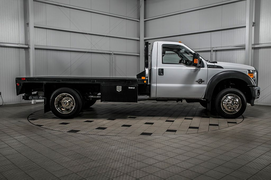 2015 Ford Super Duty F-550 DRW F550 REG CAB 4X4 * 6.7 POWERSTROKE * 11' C&M FLATBED * 1 OWNER - 17136112 - 6