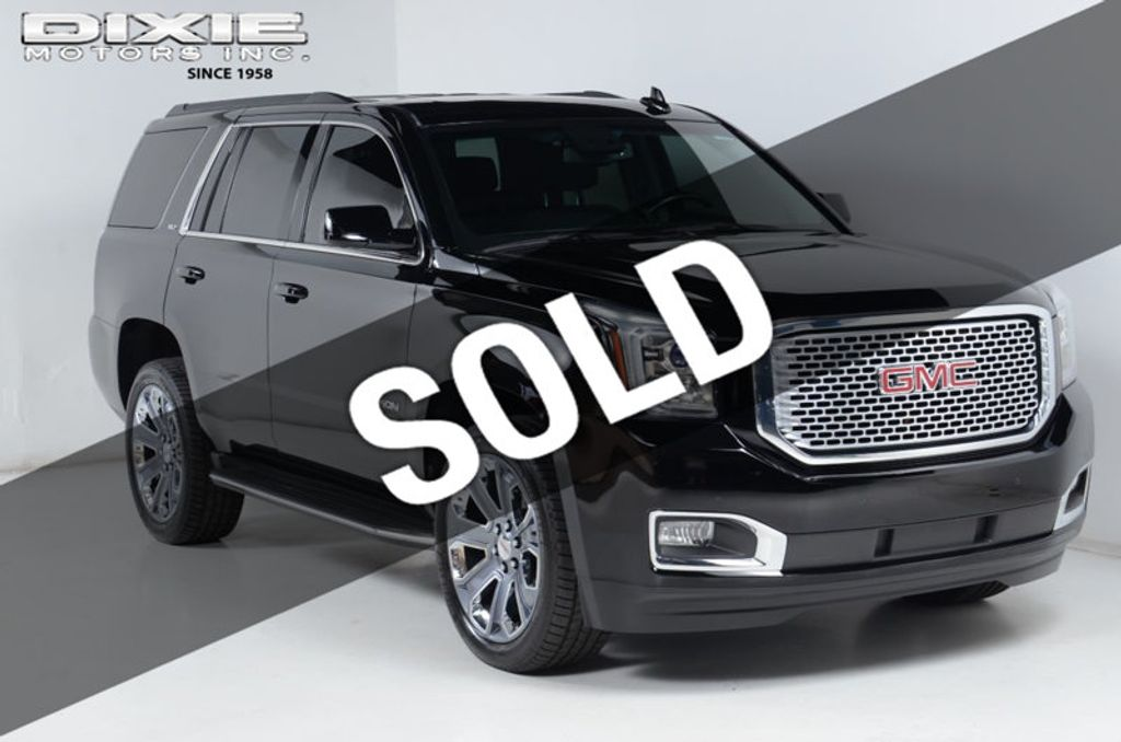 2015 GMC Yukon SLT-4X4-DENALI GRILL- 22S-NAVIGATION-SUNROOF-DVD-HEATED AND COOL - 16523756 - 0