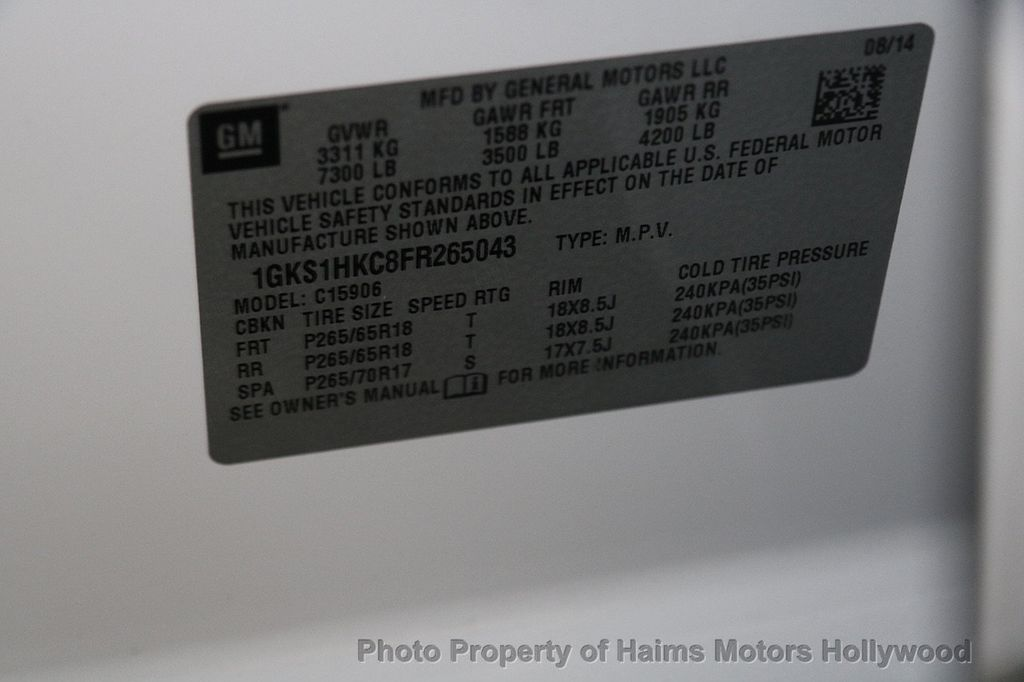 2015 GMC Yukon XL SLT - 17140798 - 39