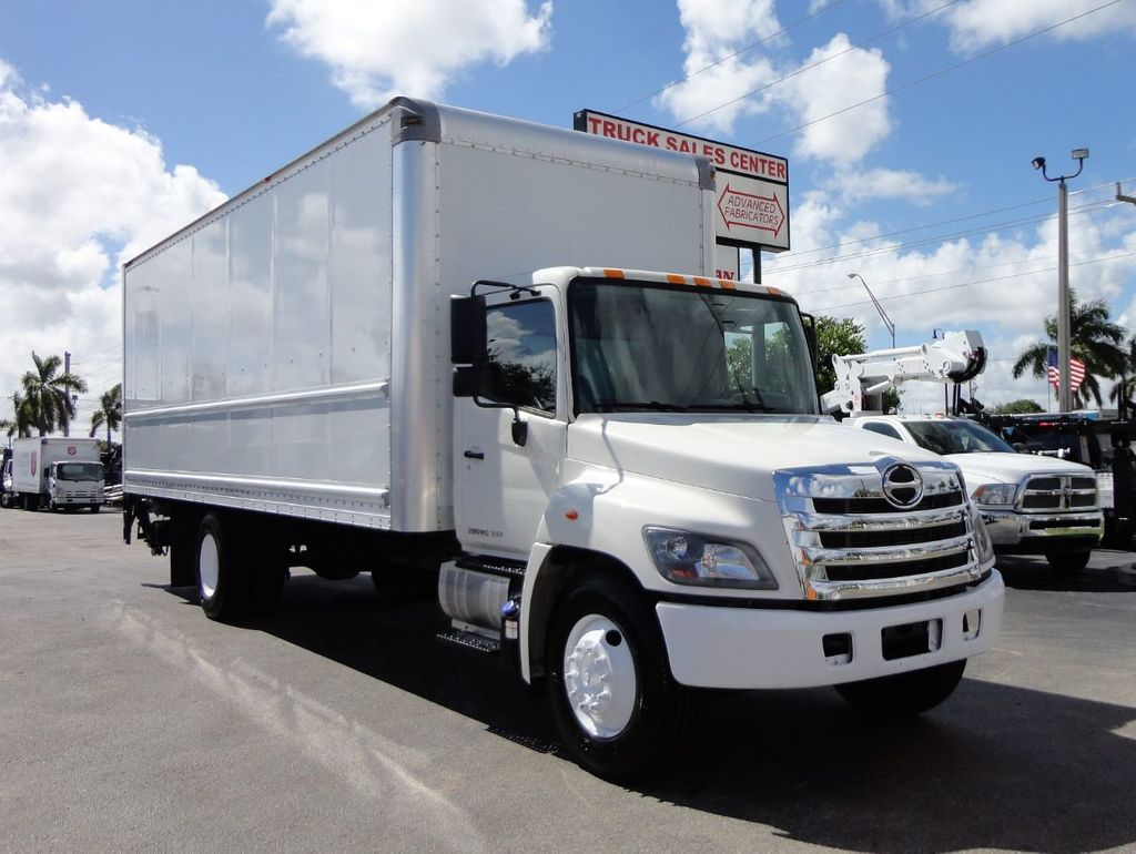 2015 HINO 268 26FT DRY BOX TRUCK . CARGO TRUCK WITH LIFTGATE - 18212181 - 3