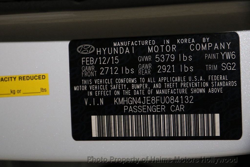 2015 Hyundai Genesis Base Trim - 16577530 - 35