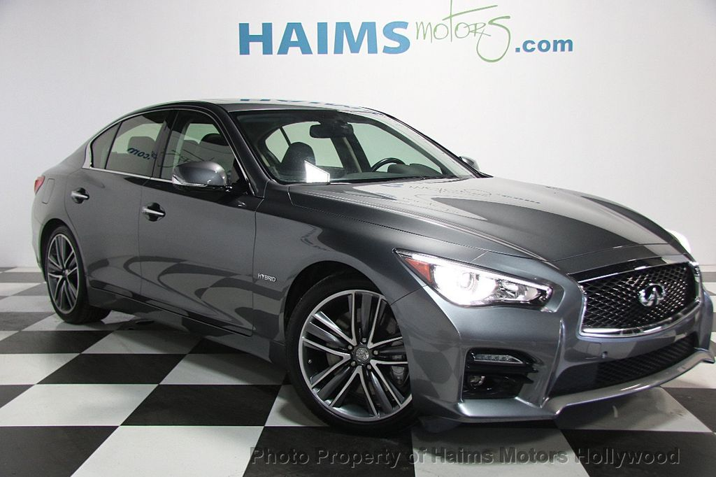 2015 used infiniti q50 4dr sedan hybrid sport rwd at haims motors serving fort lauderdale. Black Bedroom Furniture Sets. Home Design Ideas