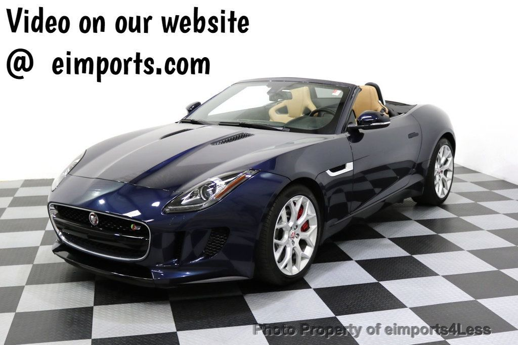 2015 Jaguar F-TYPE CERTIFIFIED F-TYPE S BLIND SPOT MERIDIAN NAVIGATION - 17724865 - 0