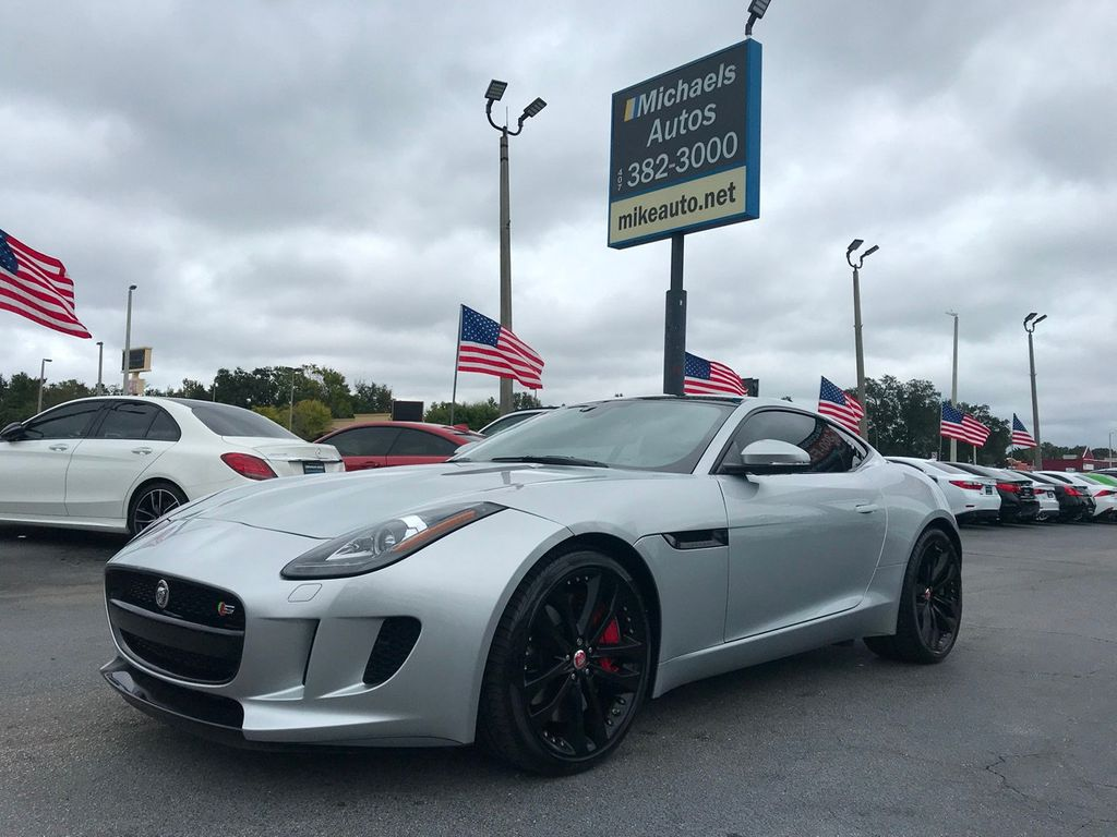 Jaguar F Type Coupe >> 2015 Used Jaguar F Type Coupe S F Typecpe S V6 Leather Moonroof Navi Keyless Hidlights Bluetooth At Michaels Autos Serving Orlando Fl Iid 19554569
