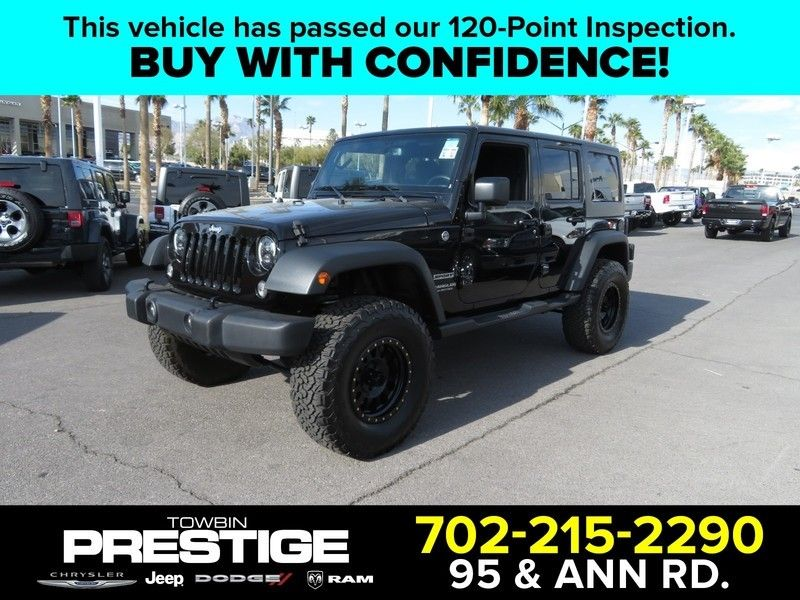 2015 Jeep Wrangler Unlimited 4WD 4dr Sport - 17407111 - 0