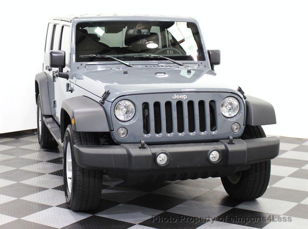 2015 used jeep wrangler unlimited certified wrangler unlimited sport 4wd 6 speed at. Black Bedroom Furniture Sets. Home Design Ideas