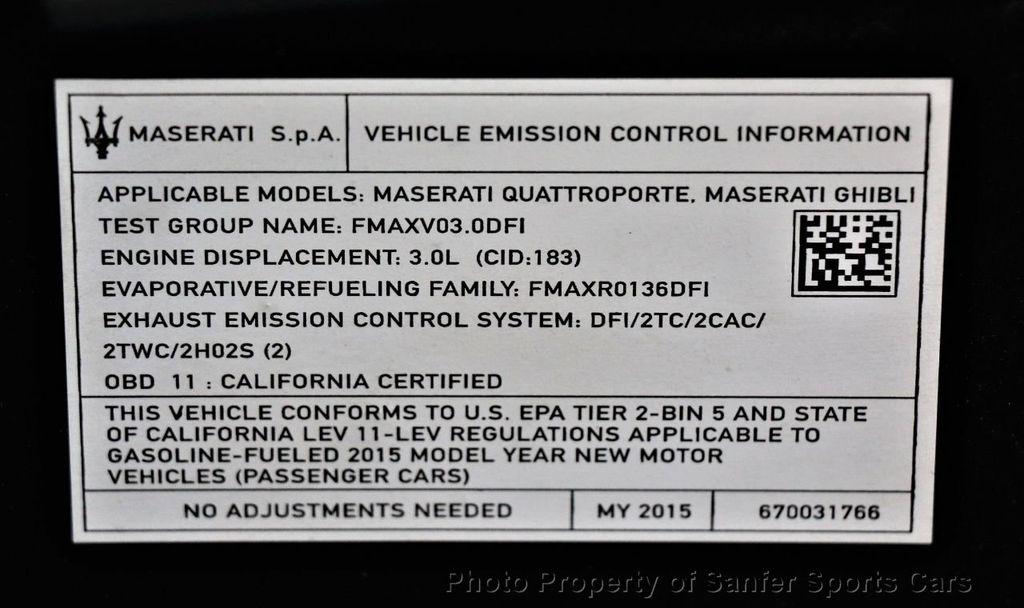 2015 Maserati Ghibli 4dr Sedan S Q4 - 20603334 - 48